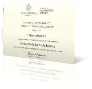 Divorce Mediation Certificate